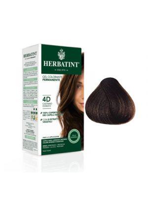 HERBATINT Gel Colorante Permanente per Capelli 4D - Castano Dorato 150 ml.