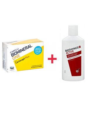 BIOMINERAL One con Lactocapil Plus 30 Compresse + Omaggio Uomo