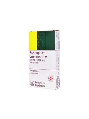 BUSCOPAN® Compositum 10mg.+800mg. 6 Supposte