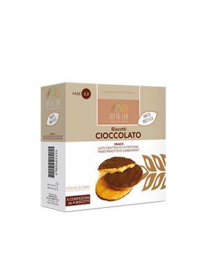 DIETALAB Biscotti Cioccolato 4 Confezioni da 4 Biscotti - Snack Proteico