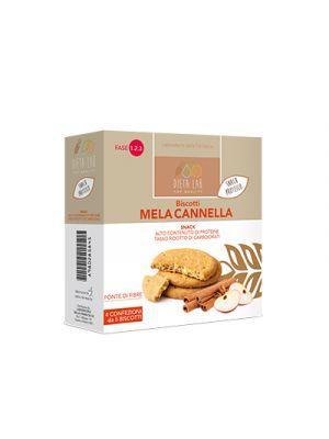 DIETALAB Biscotti Mela Cannella 4 Confezioni da 5 Biscotti - Snack Proteico