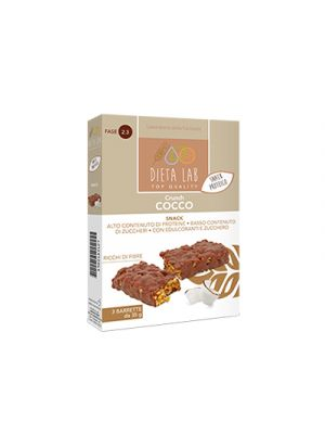 DIETALAB Crunch Cocco 3 Barrette da 35 g. - Snack Proteico