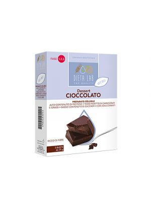 DIETALAB Dessert Cioccolato 3 Buste da 25 g.