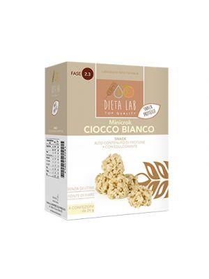 DIETALAB Minicrok Ciocco Bianco 4 Confezioni da 24 g. - Snack Proteico