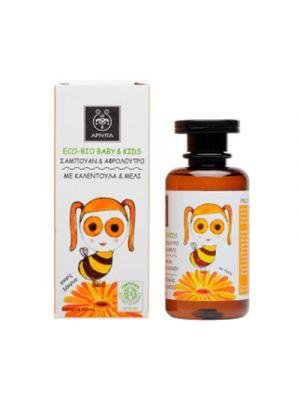 APIVITA Eco-Bio Baby & Kids Detergente Corpo e Capelli con Calendula e Miele 200 ml.