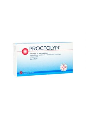 PROCTOLYN® 01,mg.+10mg. 10 Supposte