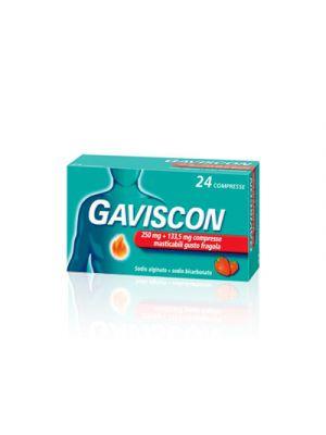 GAVISCON® 250 mg.+133,5 mg. 24 Compresse Aroma Fragola