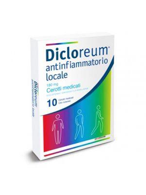 DICLOREUM® Antinfiammatorio Locale 180 mg. 10 Cerotti Medicati