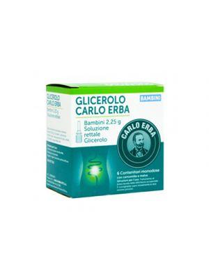 CARLO ERBA Glicerolo Bambini Soluzione Rettale 2,25 g. 6 Microclismi