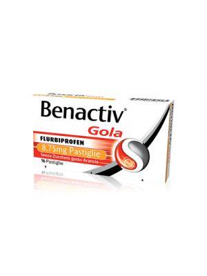 BENACTIV® Gola Pastiglie Senza Zucchero Gusto Arancia 16 Pastiglie