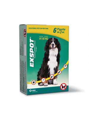 EXSPOT® Soluzione Spot-On Cani oltre 40Kg. 6 Pipette Monodose