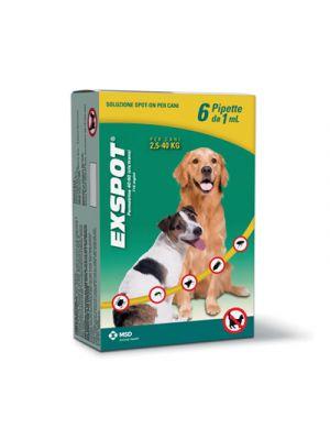 EXSPOT® Soluzione Spot-On Cani fino 40Kg. 6 Pipette Monodose