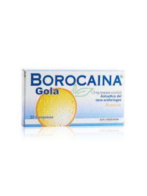 BOROCAINA® Gola Gusto Arancia 20 Compresse Orosolubili