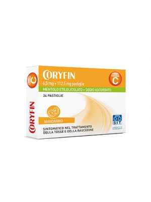 CORYFIN C 6,5 mg.+112,5 mg. Pastiglie Gusto Mandarino 24 Pastiglie