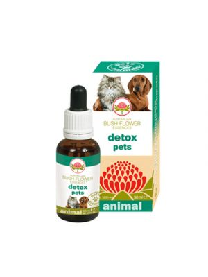 AUSTRALIAN BUSH FLOWER ANIMAL Detox Pets 30 ml.
