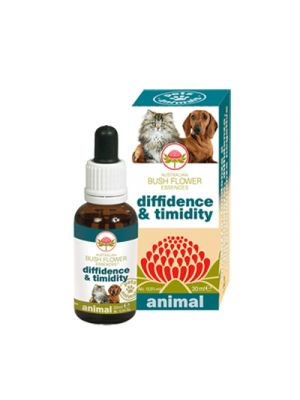 AUSTRALIAN BUSH FLOWER ANIMAL Diffidence & Timidity 30 ml.