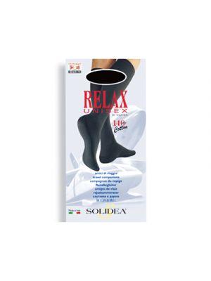 SOLIDEA® Relax Unisex Gambaletto 140 Denari BLU SCURO - Misura XL