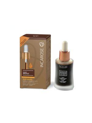 INCAROSE Maxi Bronze Sun Drops Fluido Autoabbronzante Antiage-Levigante 30 ml.