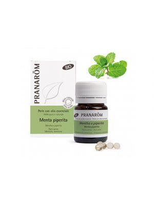 PRANAROM Perle con Olio Essenziale Di Menta Piperita BIO 60 Perle