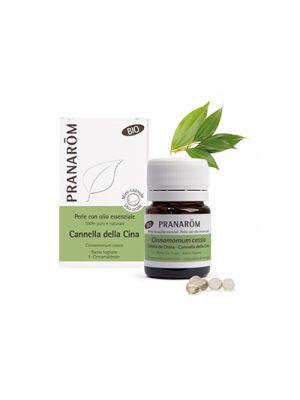 PRANAROM Perle con Olio Essenziale Di Cannella della Cina BIO 60 Perle