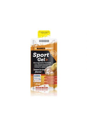 NAMED Sport Sport Gel Glucogenetic Formula Mopack 25 ml. - Gusto Lemon Ice Tea